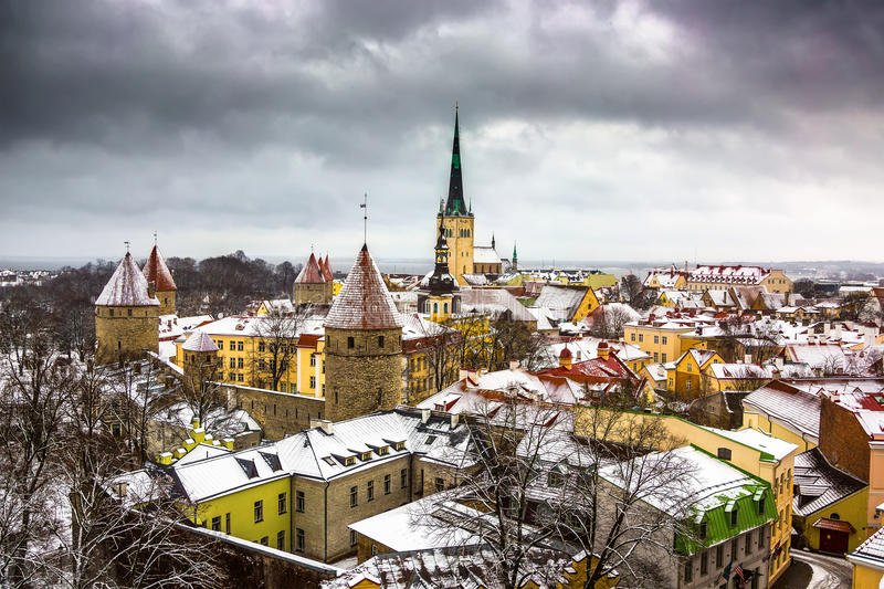 View of the old town royalty free stock images