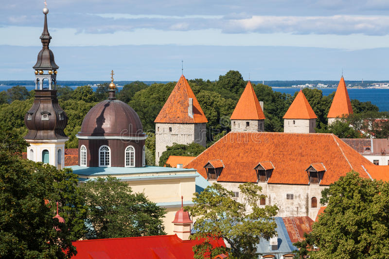 View of the old town Tallinn, Estonia. View of the old town .Tallinn, Estonia stock photo