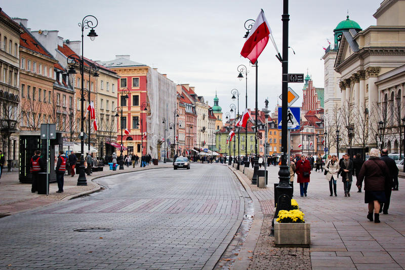 View of the old town of Warsaw. royalty free stock image