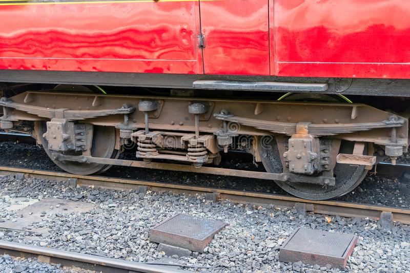 View of an old train wheel bogie royalty free stock photography