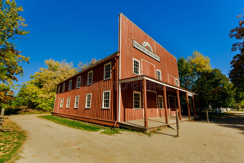 View of old vintage classic dominion carriage workshop architectural house stock photo