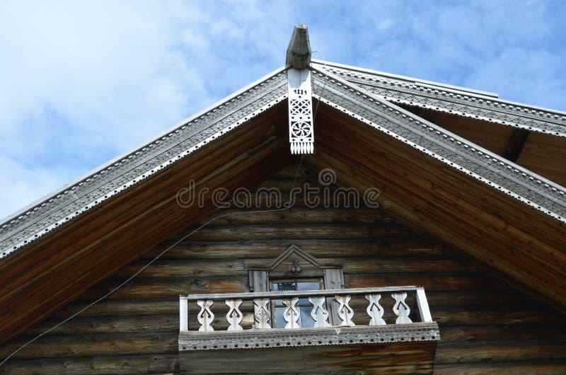 Old wooden house on Kizhi island in Karelia stock photos