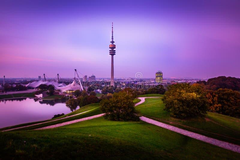 Munich Olympia Tower, Olympiaturm, Germany stock image