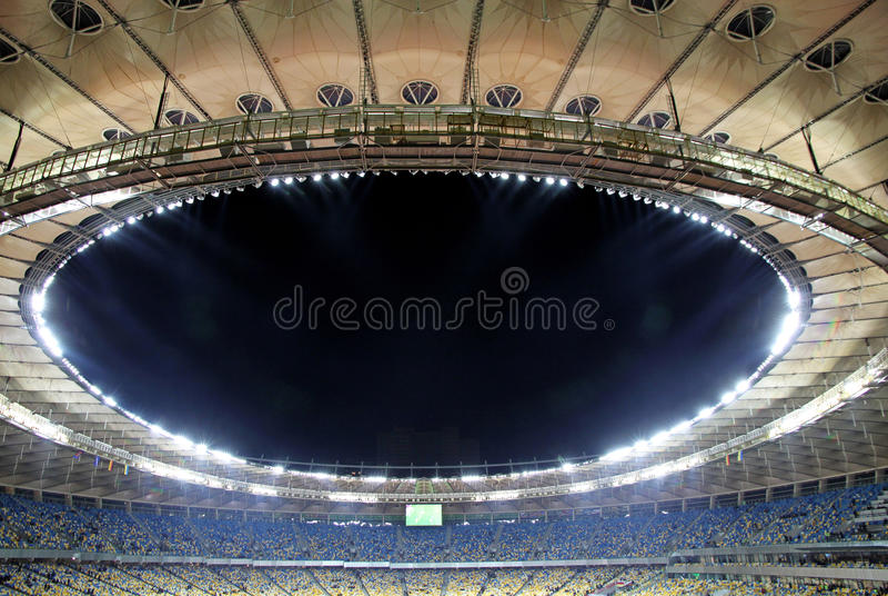 View of Olympic stadium (NSC Olimpiysky) in Kyiv, Ukraine stock images