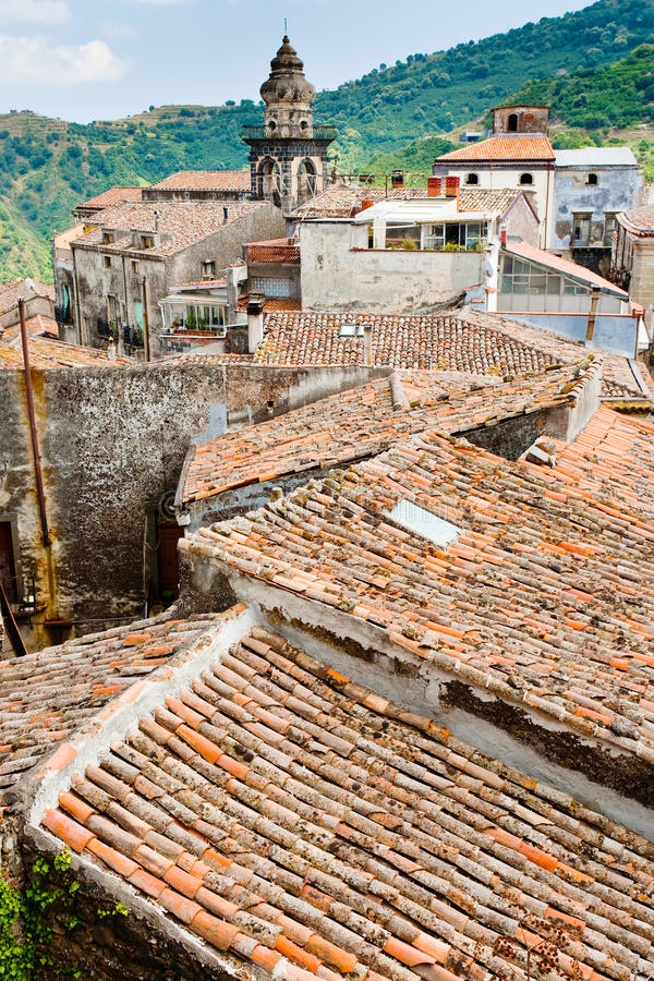 Free View On Ancient Tile Roofs And Church Tower Royalty Free Stock Photo - 21397265