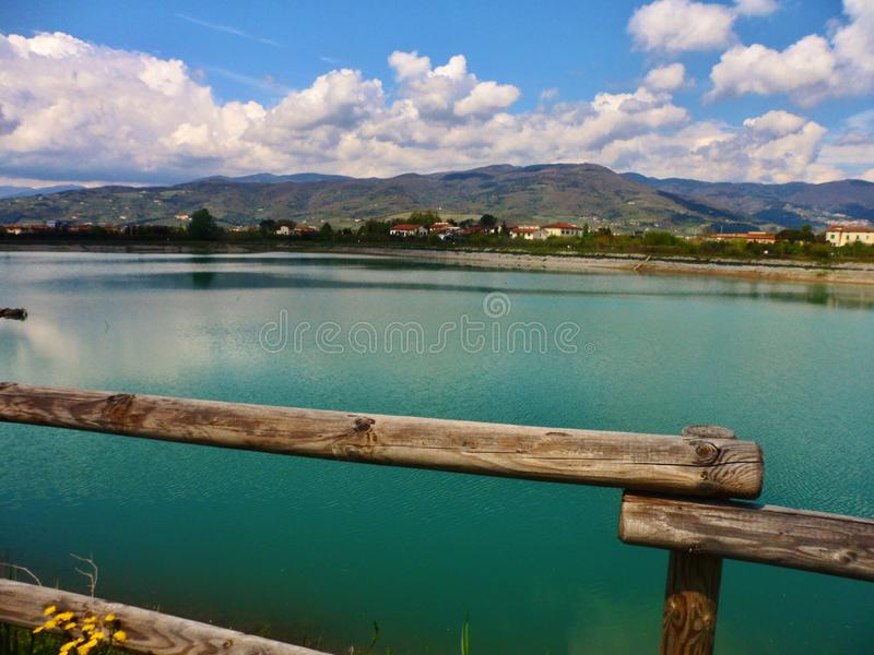 A view of one of the lakes that are located in Agliana. In Tuscany, Italy beautiful striking wonderful royalty free stock photo