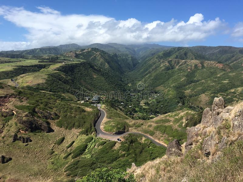 View ontop Kahakuloa head, Maui. royalty free stock images