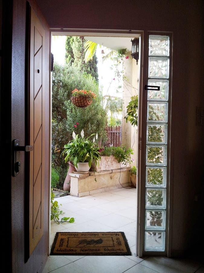 Download The View Through The Open Door Into The Patio Stock Photo   Image  Of Door
