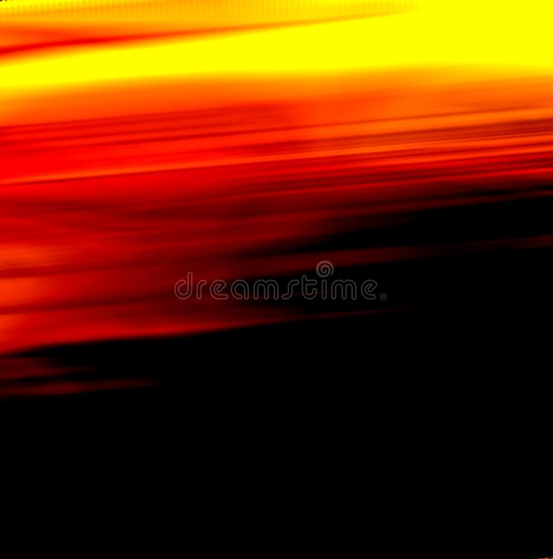View Orange Sunset shine on sky and black cloud in evening time. stock image
