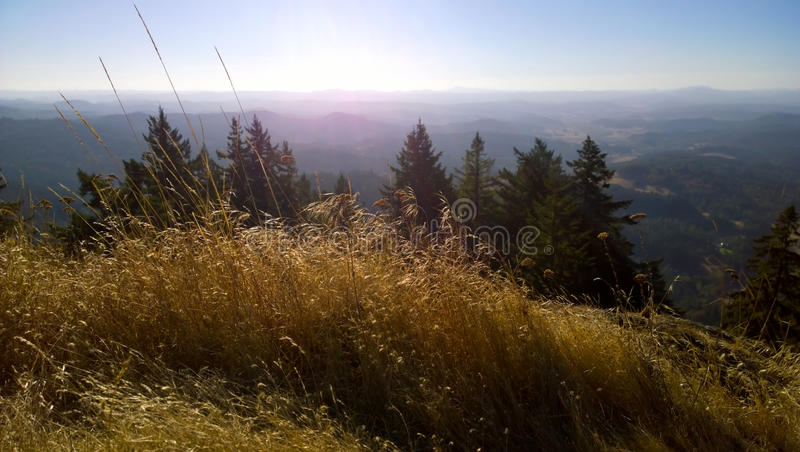A view of Oregon from Spencer`s Butte stock photography