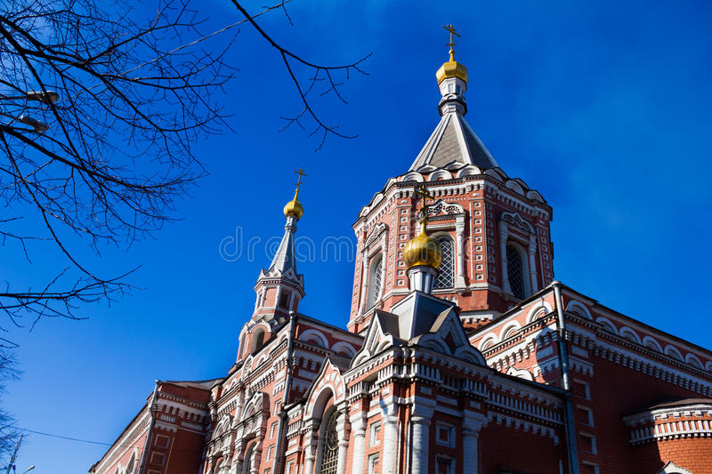 View of the Orthodox Church stock photo