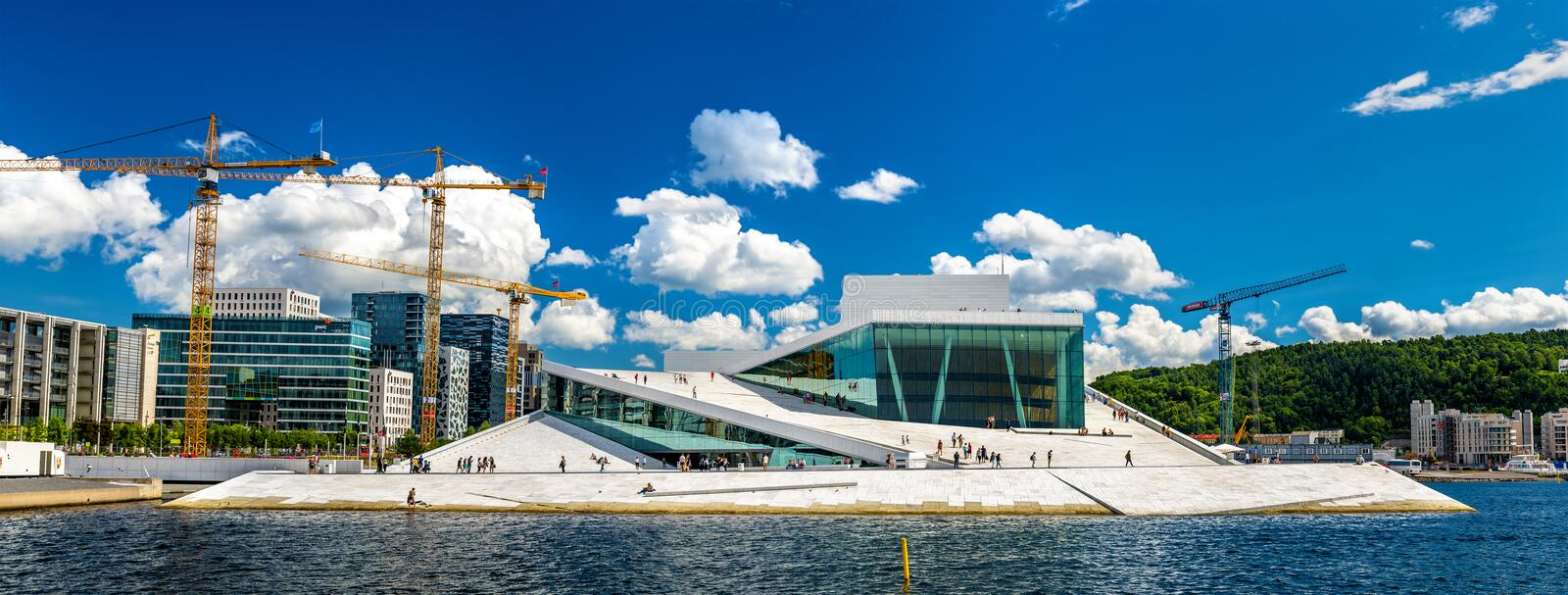 View of the Oslo Opera House stock photo