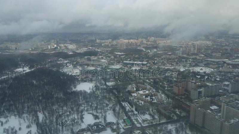 View from Ostankino TV tower. stock image