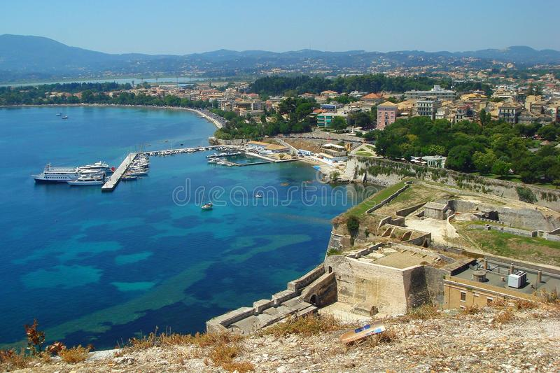 A view of the outskirts of Kerkyra city stock photo