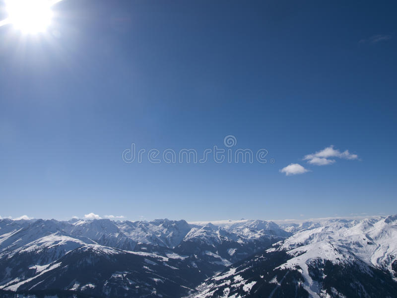 Download View Over The Alps In Austria Stock Image - Image of wintersport, nature: 35300291