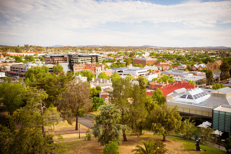 View over Bendigo CBD stock image