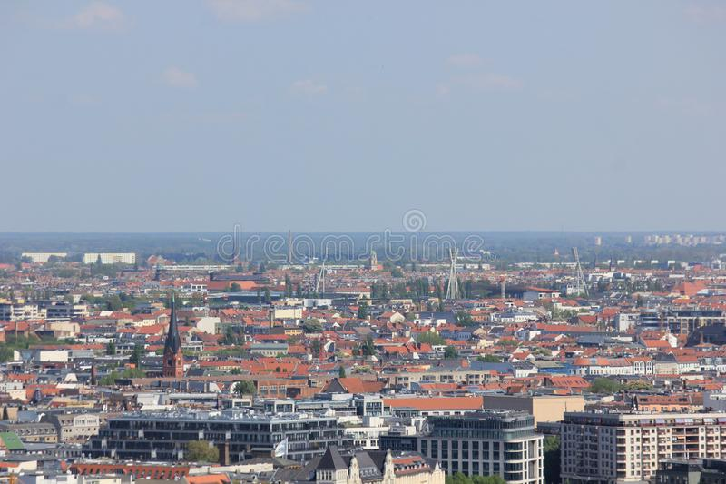 View over berlin in germany on a sunny day stock photography