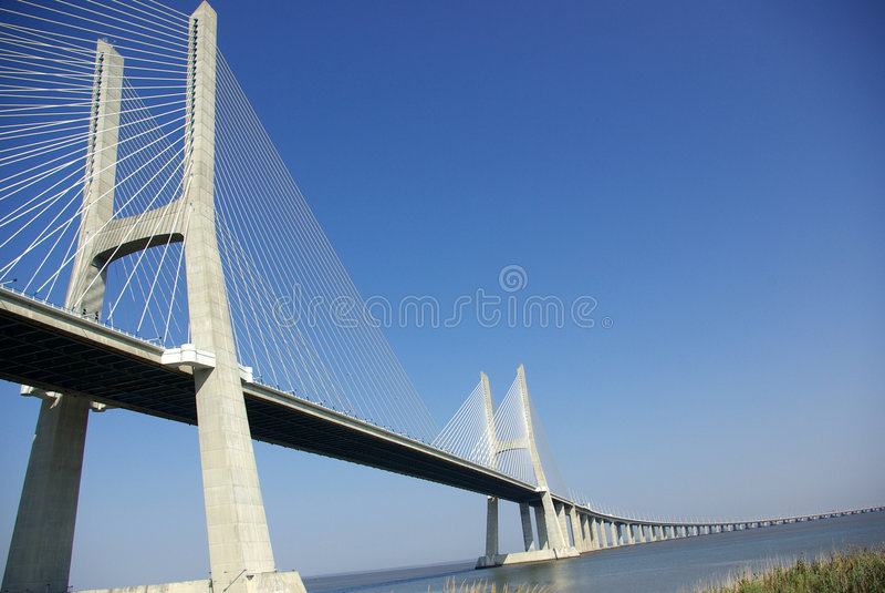A view over the bridge stock photo