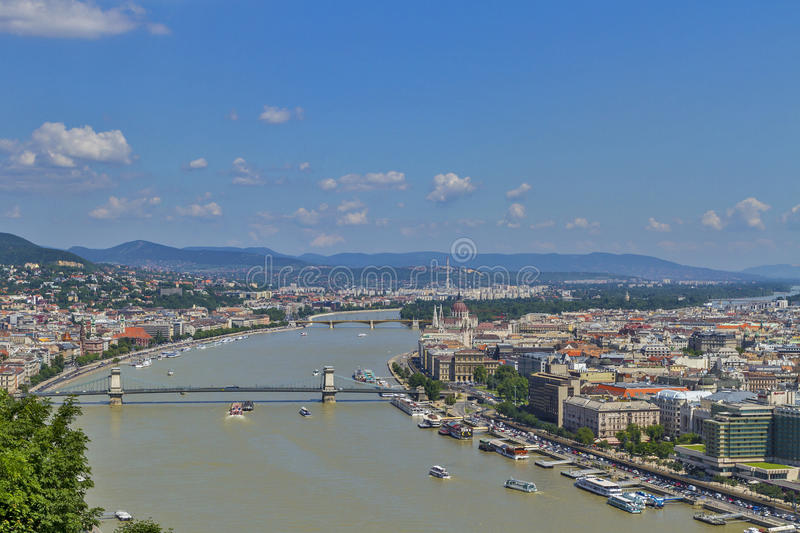 View over Budapest city center stock photo