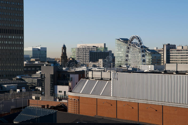 View over the city of manchester stock photos