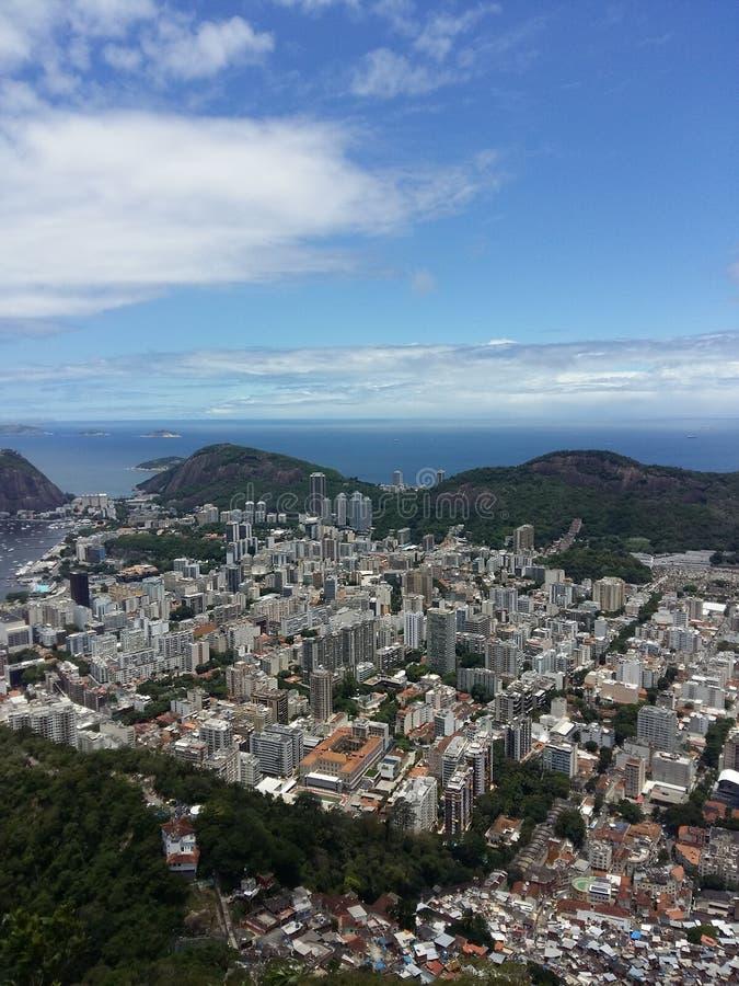 Rio de Janeiro in Brazil. A view over the city of Rio de Janeiro in Brazil royalty free stock photo
