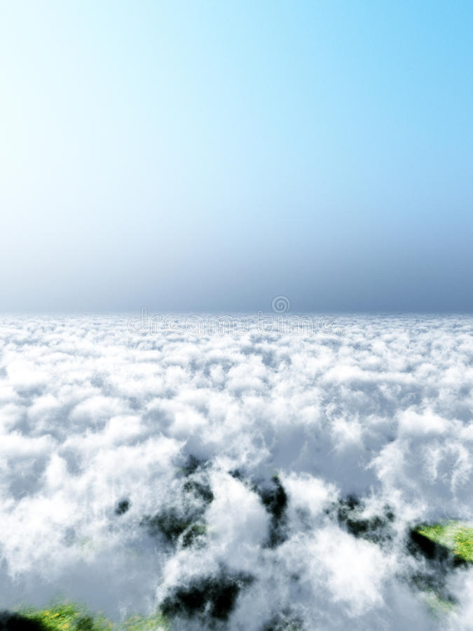 Download View Over Cloudy Sky Royalty Free Stock Image - Image: 12067876