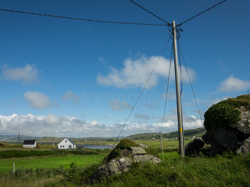 View over the countryside near Maghery, County Donegal, Ireland royalty free stock photography