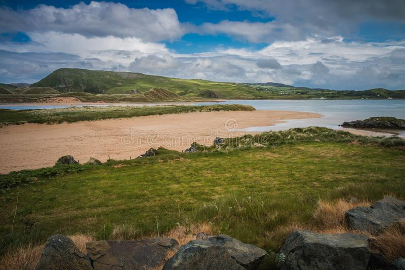 A view over Doagh in Ireland royalty free stock images