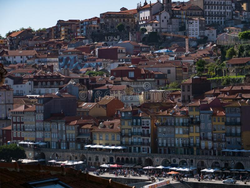 View over Douro River and city of Porto, Portugal royalty free stock photos