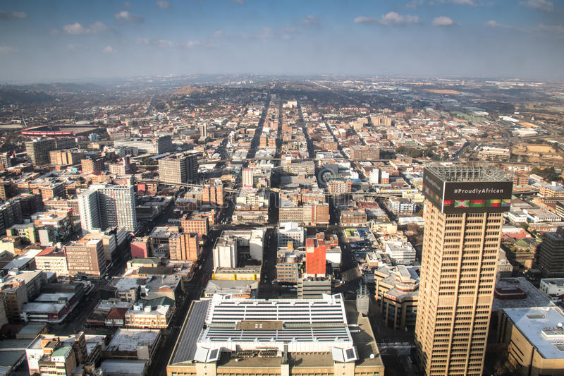 View over downtown Johannesburg in South Africa royalty free stock photography