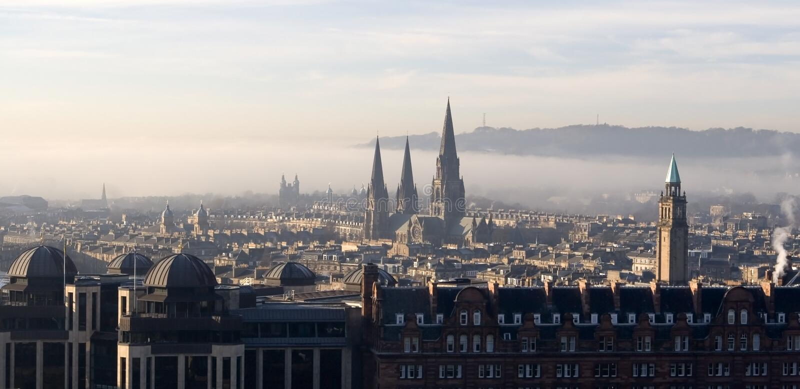 View over Edinburgh, Scotland stock photos