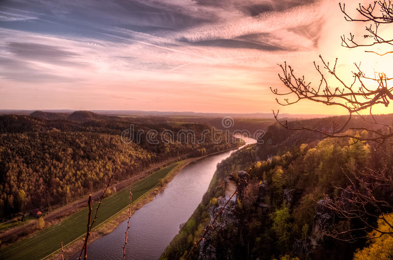 View over the Elbe stock photo