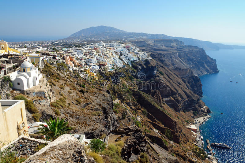 Download View over Fira stock image. Image of cyclades, clouds - 28830437