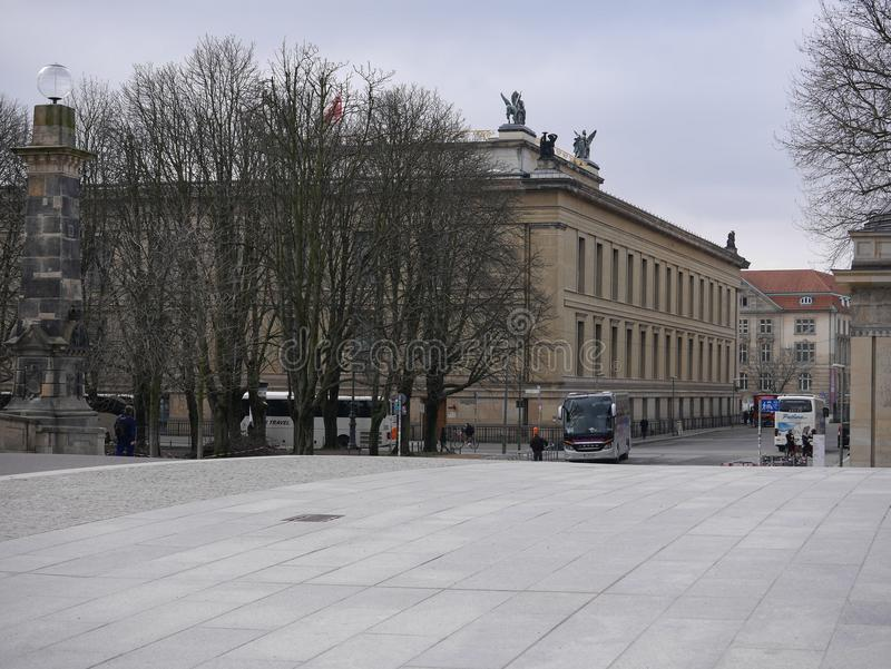 View over the friedrichsbrucke bridge in Berlin towards the Alte Musem royalty free stock images
