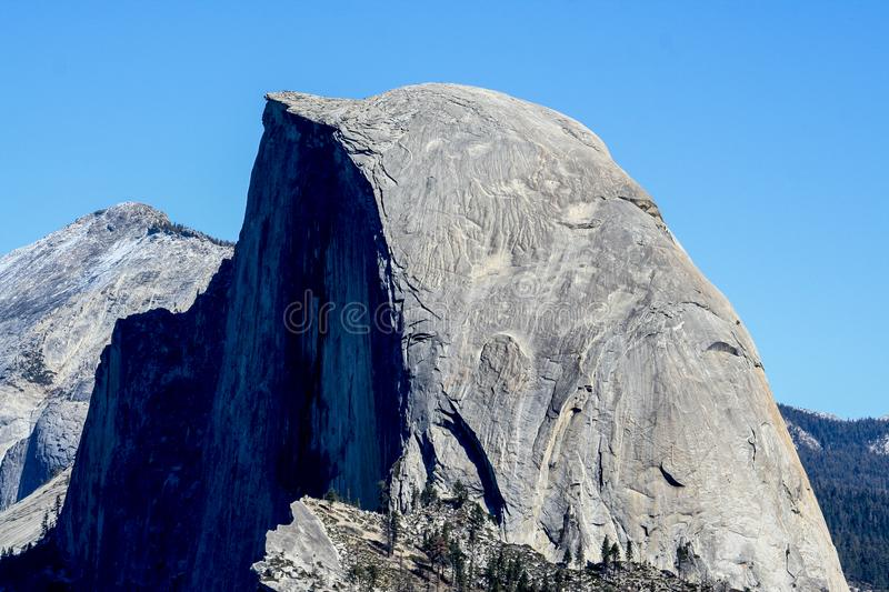 View over Half Dome from Glacier Point. Yosemite National Park, California, USA stock image