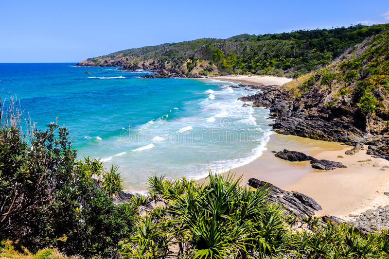 View over Kings Beach stock image
