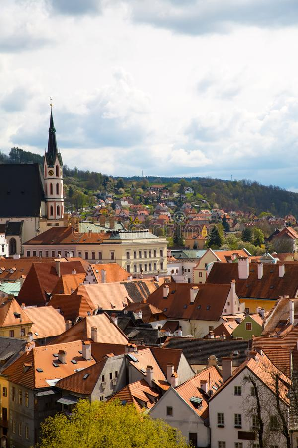 View over Krumlov in Bohemia. View over Cesky Krumlov in Bohemia, Czech Republic, Europe stock photos