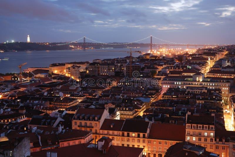 View over Lisbon stock image