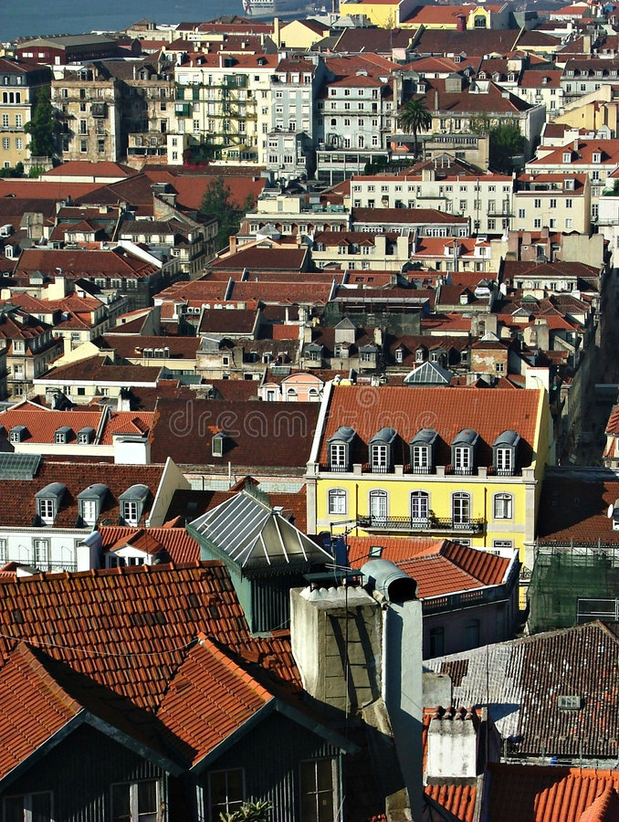 Download View over Lissabon stock image. Image of town, architecture - 156165
