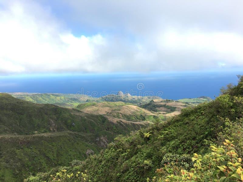 View over looking Kahakuloa head, Maui. stock photos