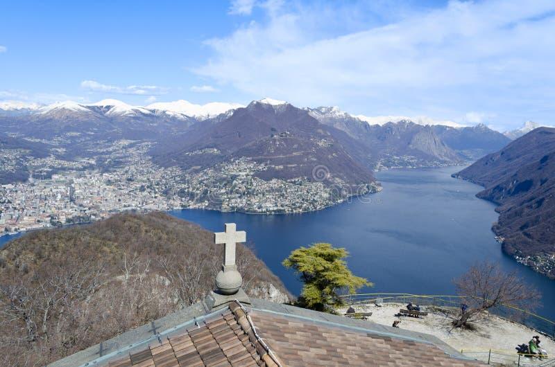 View over Lugano Lake - Switzerland stock photos