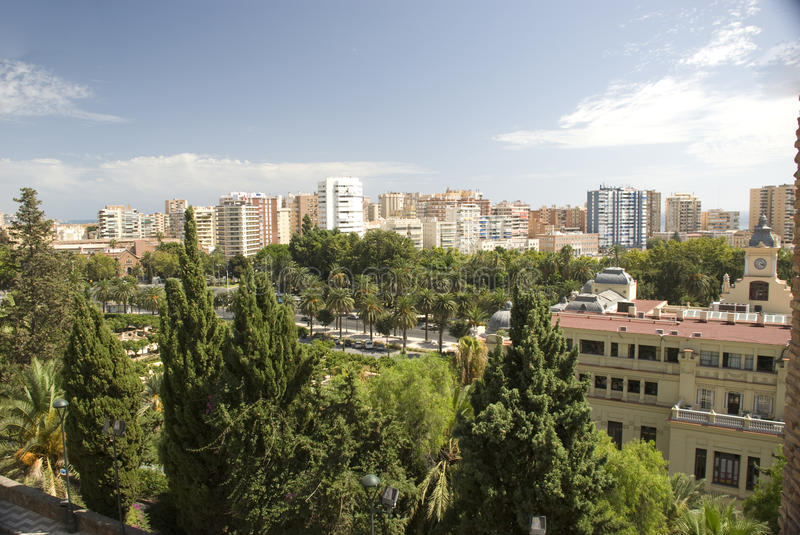 View over malaga royalty free stock images
