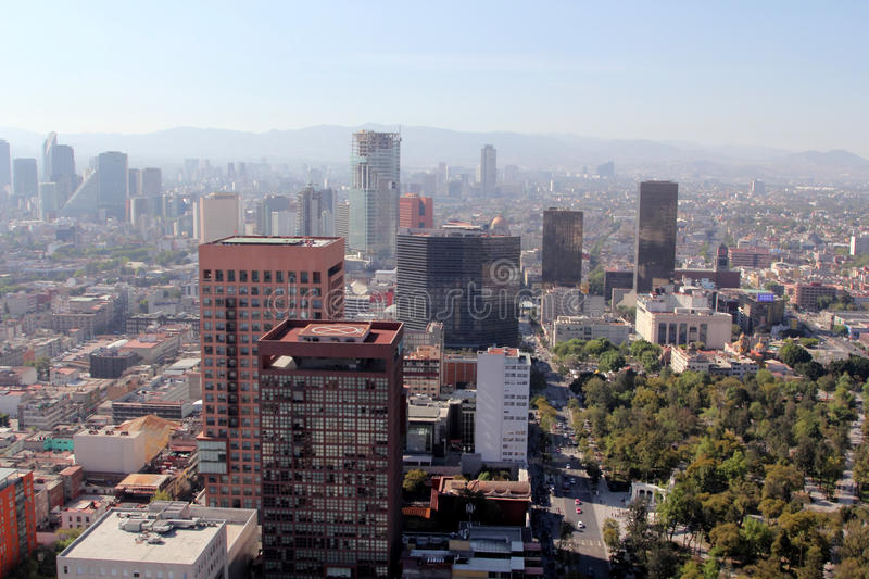View over Mexico City, Mexico. royalty free stock photos