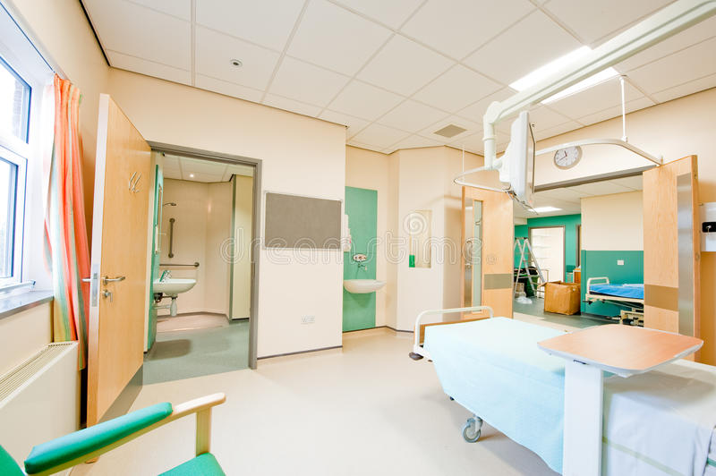 View over a modern hospital room royalty free stock photos