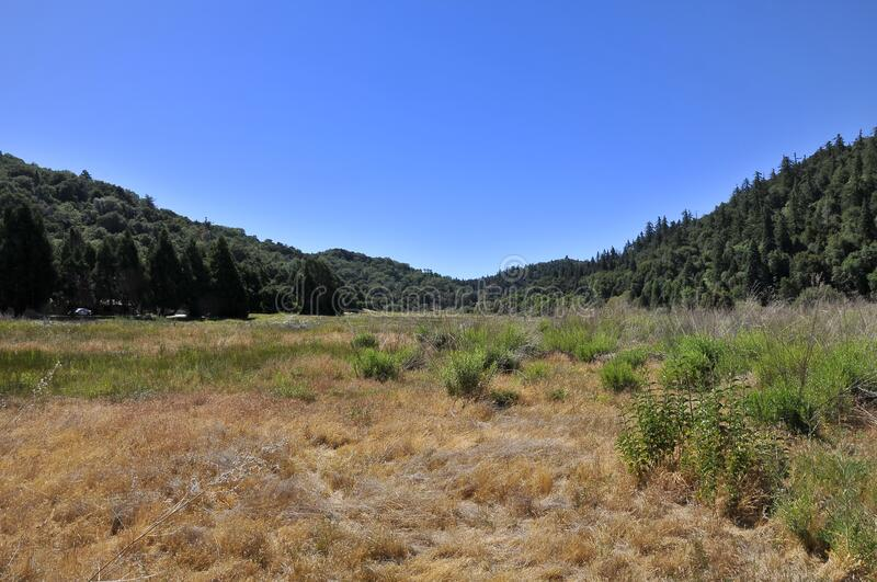 View over Mount Palomar National Park stock photography