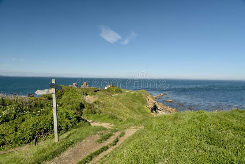 View over Peveril Point. Near Swanage on the Dorset coast stock photography