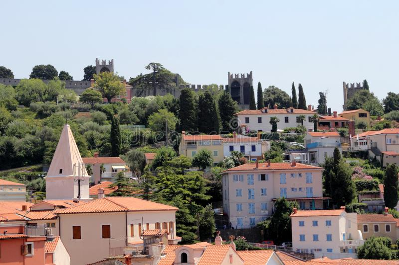 View over Piran, Slovenia royalty free stock photography