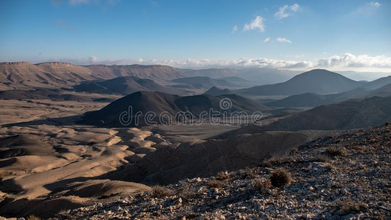 View over Ramon Crater royalty free stock photo