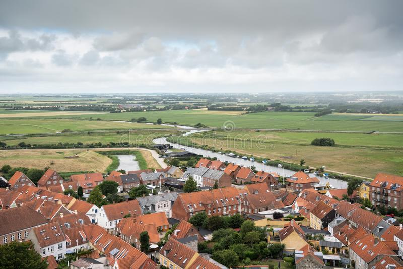 View over ribe from the cathedral tower royalty free stock image