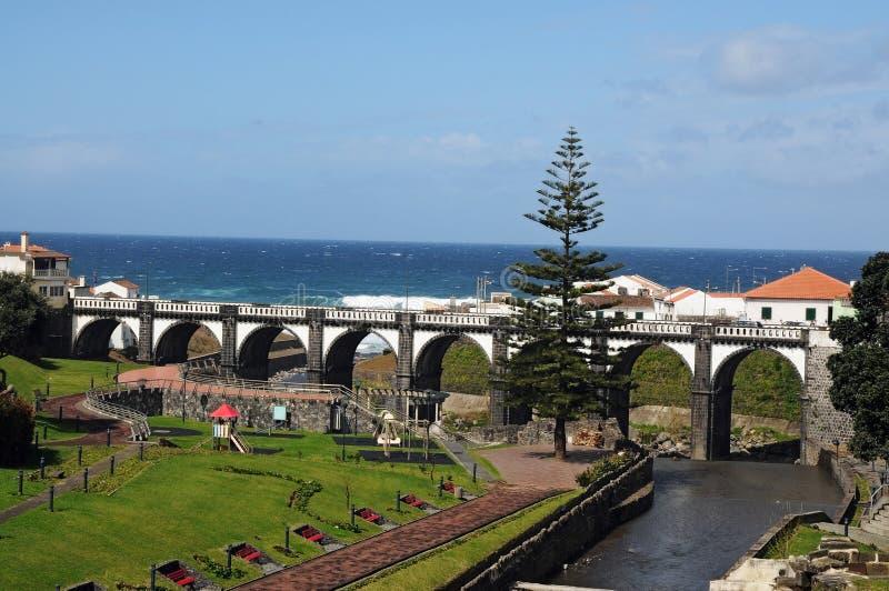 Ribeira Grande. View over Ribeira Grande, Azores islands, Portugal stock image